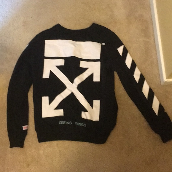 Off White Sweaters Off White Seeing Things Arrow Crewneck Poshmark